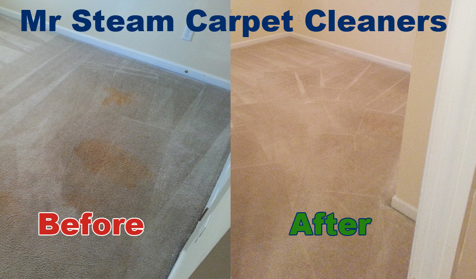 Before-After Mr Steam Carpet Cleaners Augusta